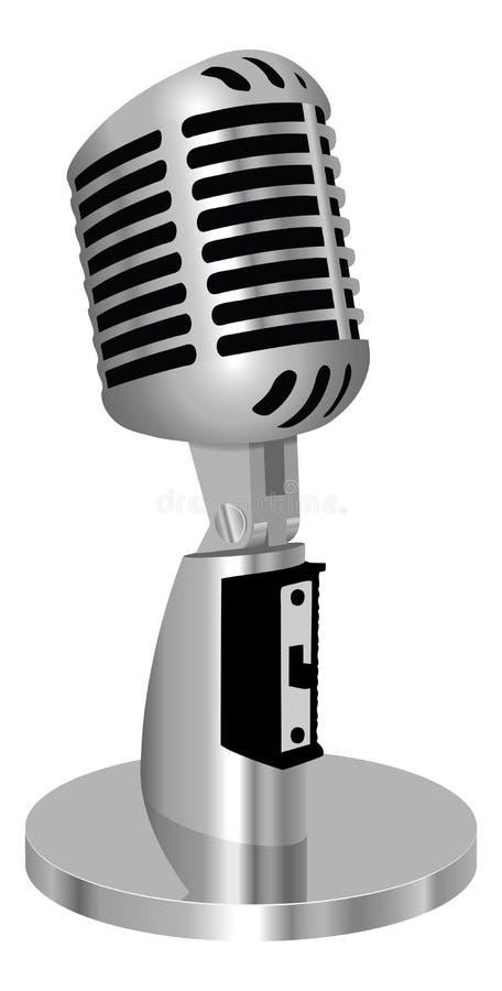 Microfone clássico do vintage   ilustração royalty free