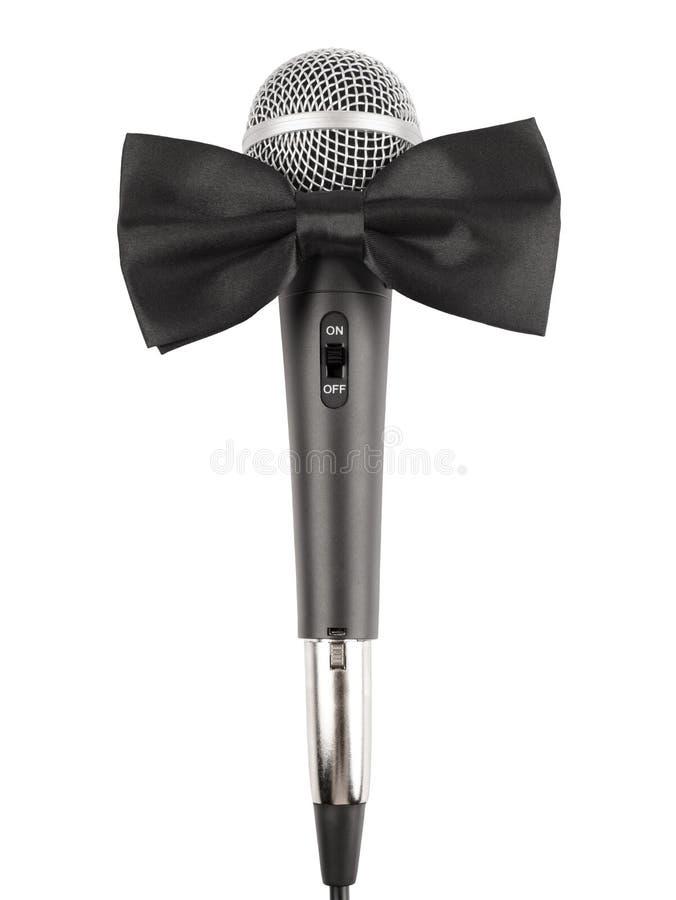 Microfone com laço imagens de stock royalty free