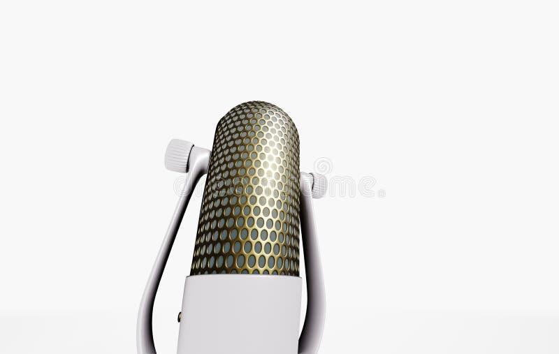 microfone 3D no suporte ilustração stock
