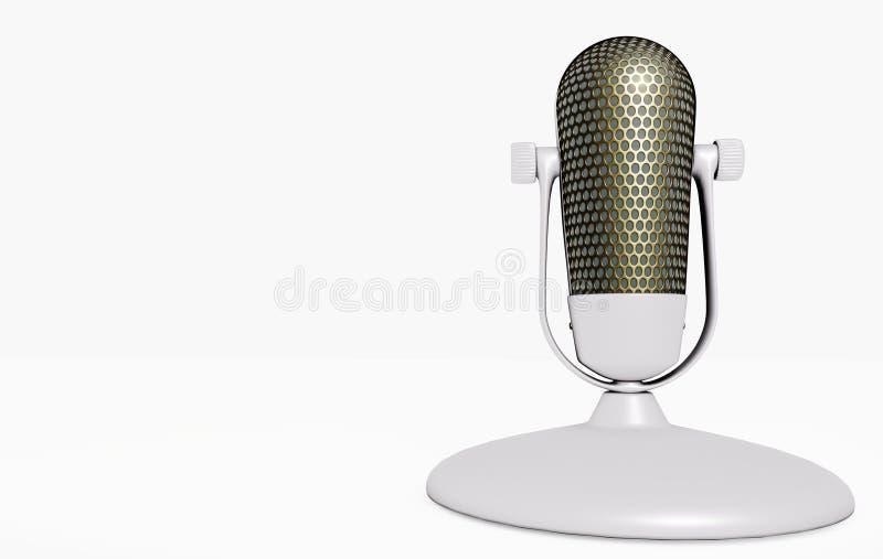 microfone 3D no suporte ilustração royalty free