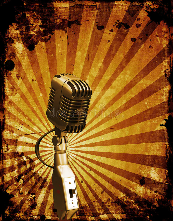 Microfone de Grunge ilustração do vetor