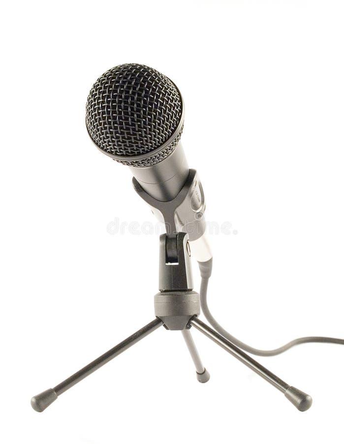Microfone de pé imagem de stock royalty free