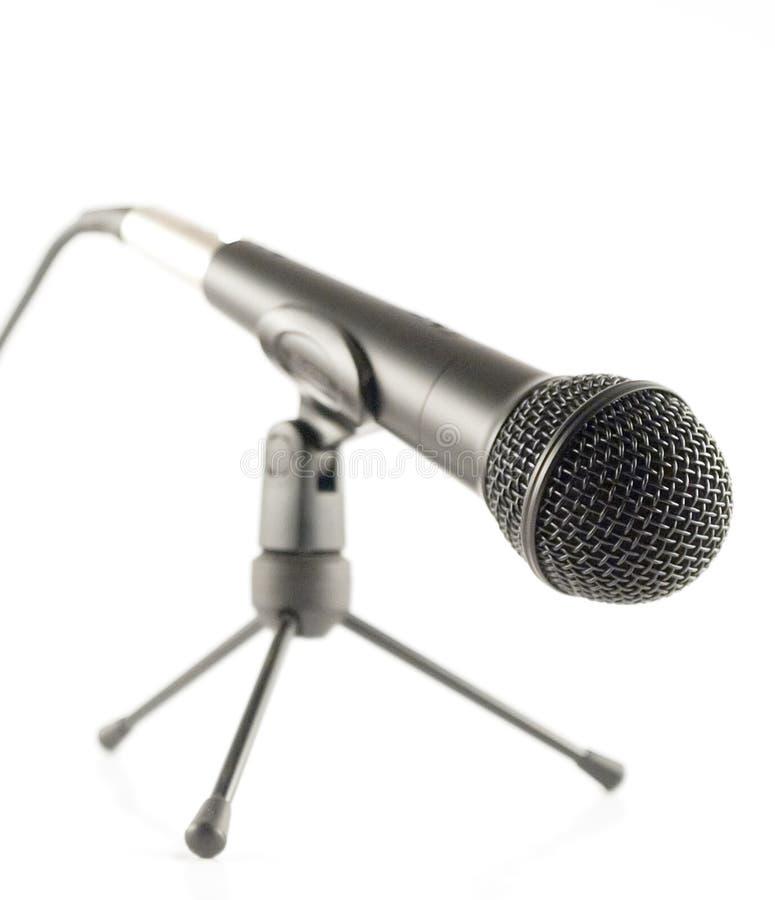 Microfone de pé imagens de stock