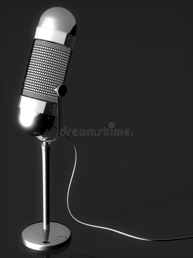 Microfone de prata ilustração royalty free
