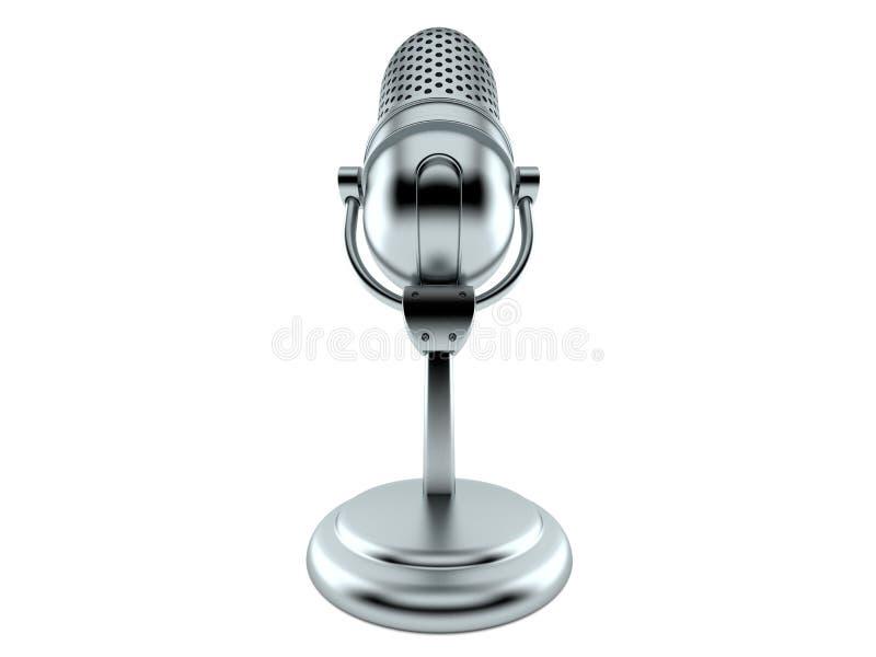 Microfone de rádio ilustração stock