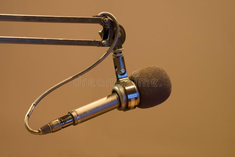 Microfone do anunciador foto de stock