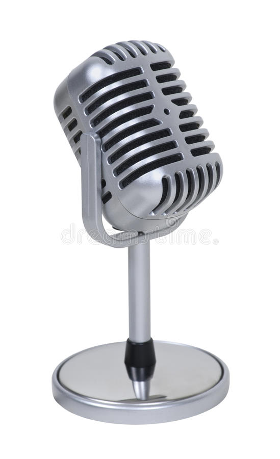 Microfone do comprimido imagens de stock royalty free