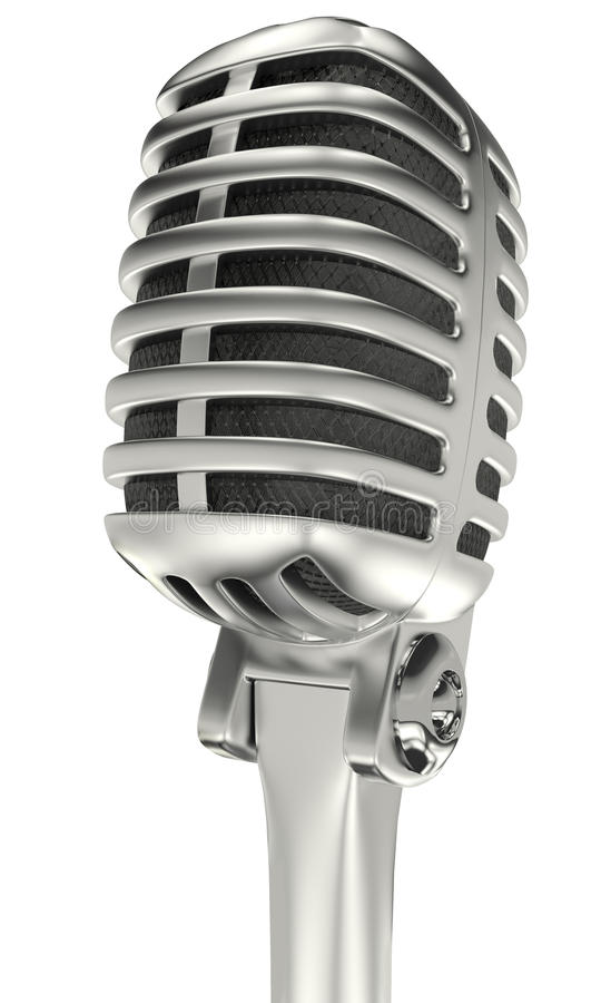 Microfone do cromo do vintage ilustração royalty free