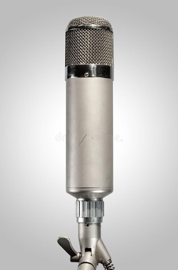 Microfone do estúdio do vintage fotografia de stock