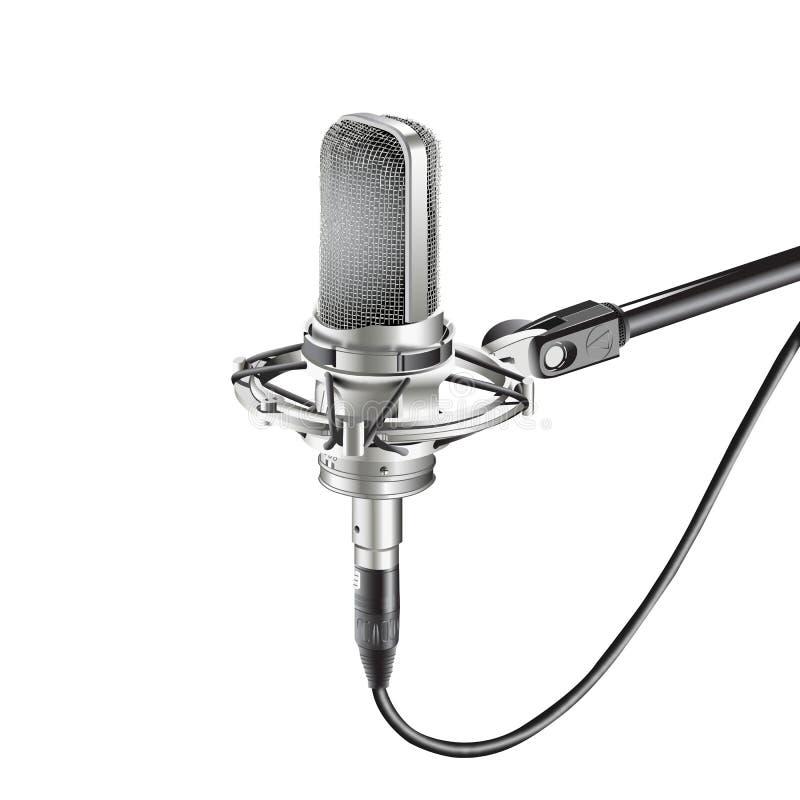 Microfone do estúdio para gravar ilustração do vetor