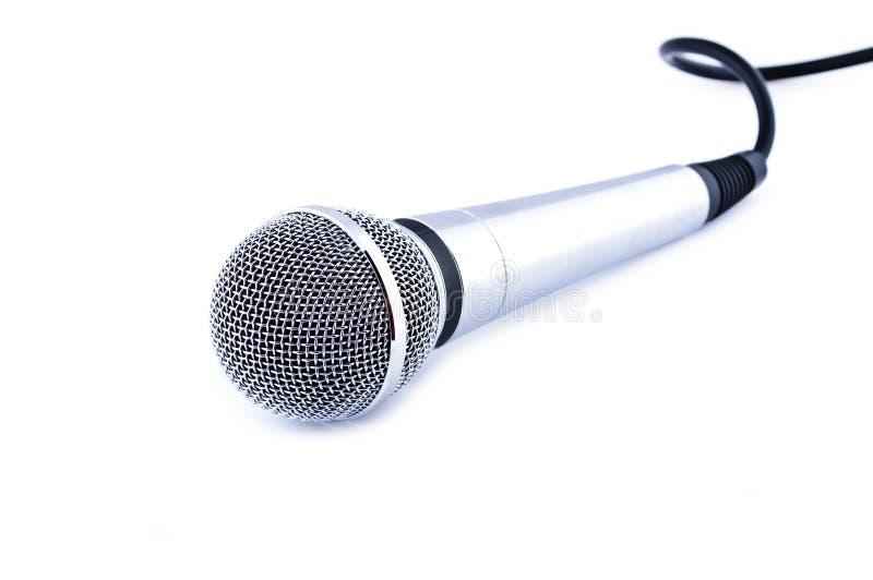 Microfone do karaoke imagem de stock