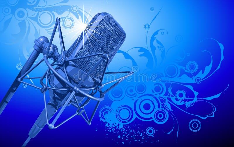 Microfone do profissional do vetor ilustração stock