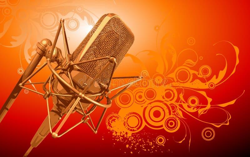 Microfone do profissional do vetor ilustração royalty free