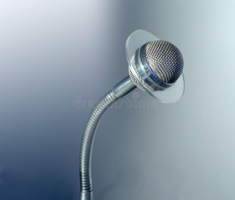 Microfone do Talkback do estúdio foto de stock