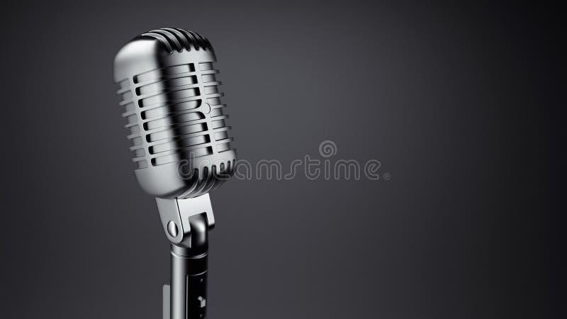 Microfone do vintage ilustração royalty free