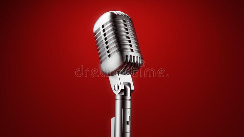 Microfone do vintage ilustração do vetor