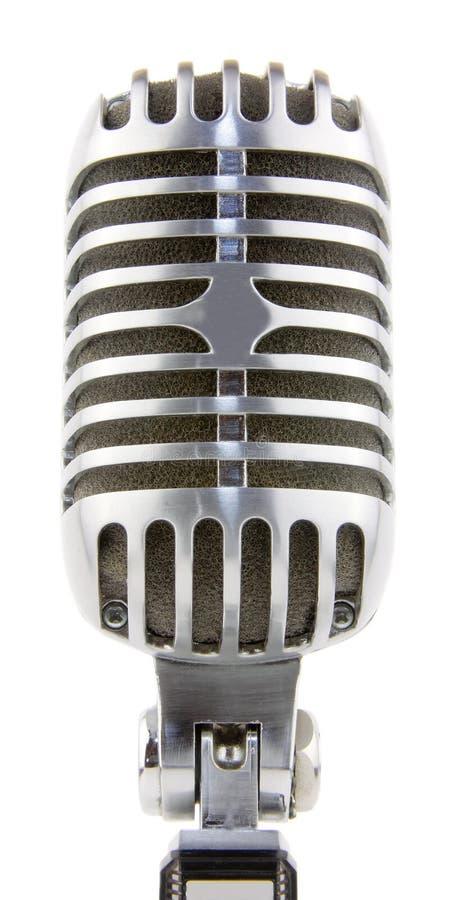 Microfone do vintage no fundo branco fotos de stock royalty free