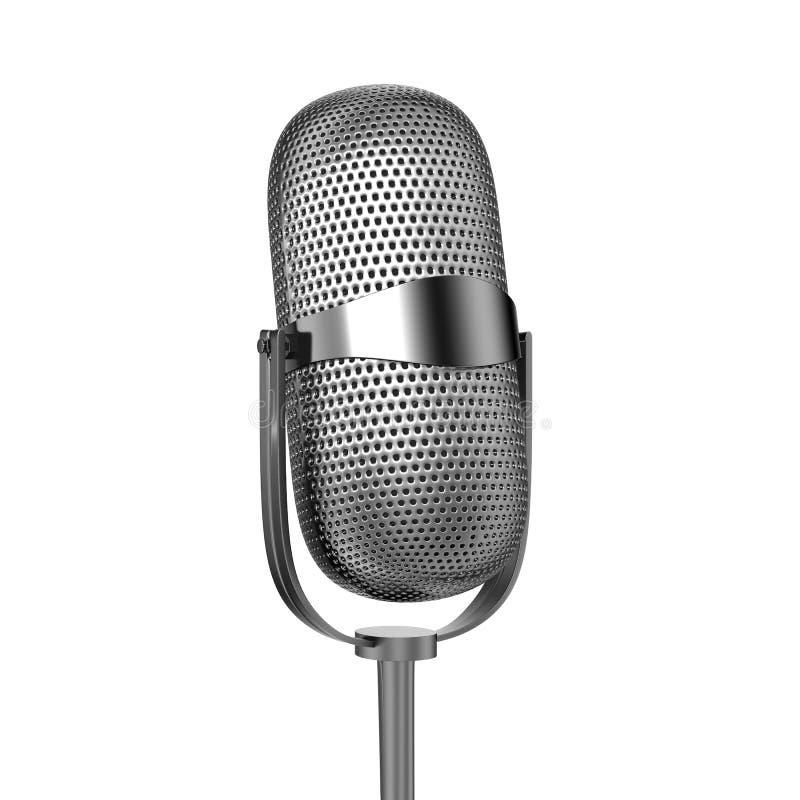 Microfone dobrado ilustração do vetor