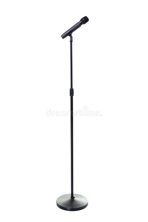 Microfone e suporte imagem de stock royalty free