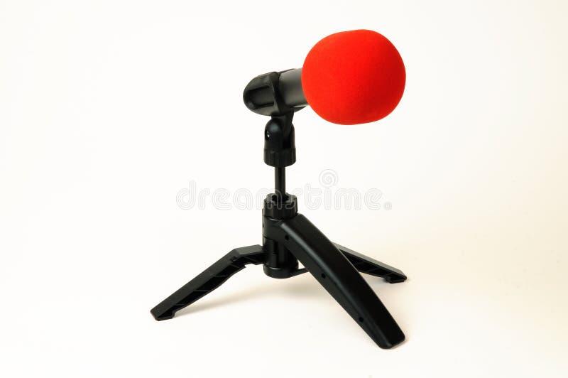Microfone isolado imagens de stock