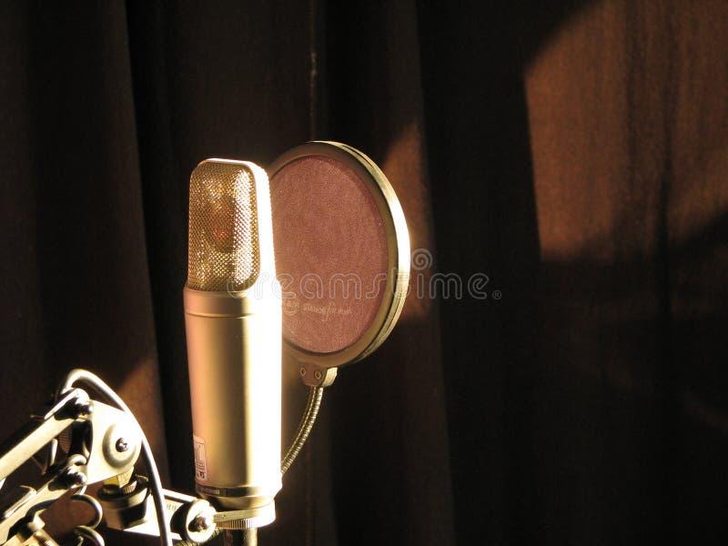 Microfone mágico fotografia de stock
