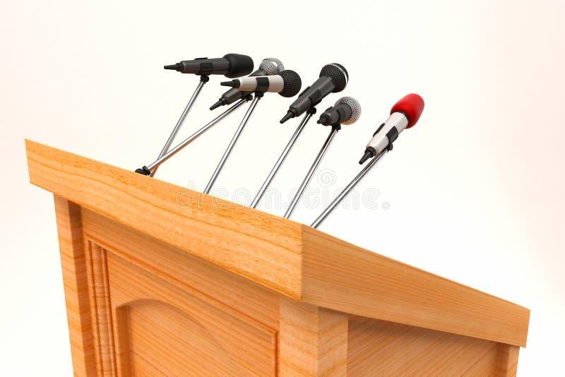 Microfone no pódio ilustração do vetor