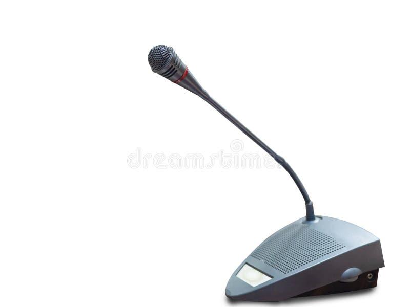 Microfone para a sala de reunião imagem de stock
