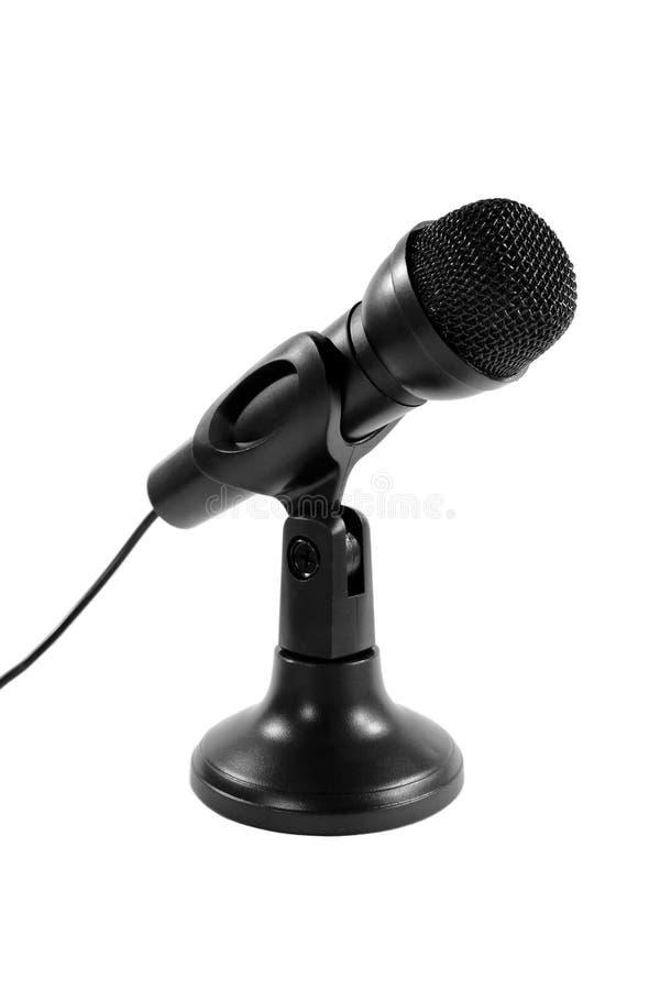 Microfone prendido no carrinho imagens de stock