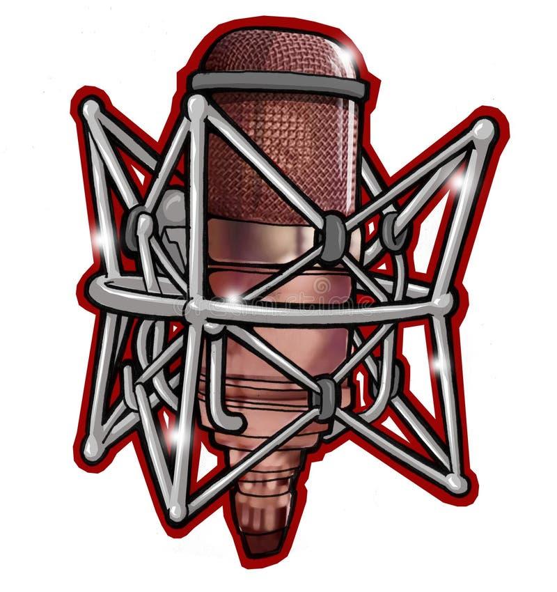 Microfone profissional para a música ilustração do vetor