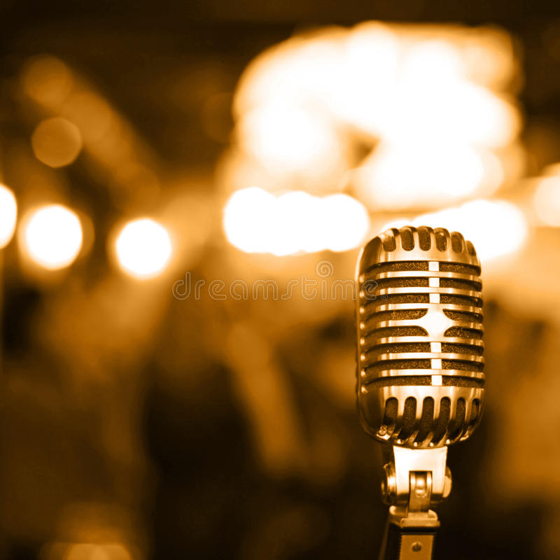 Microfone retro imagens de stock royalty free