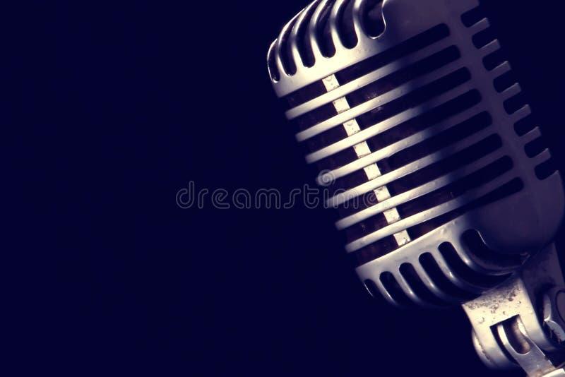 Microfone retro fotografia de stock