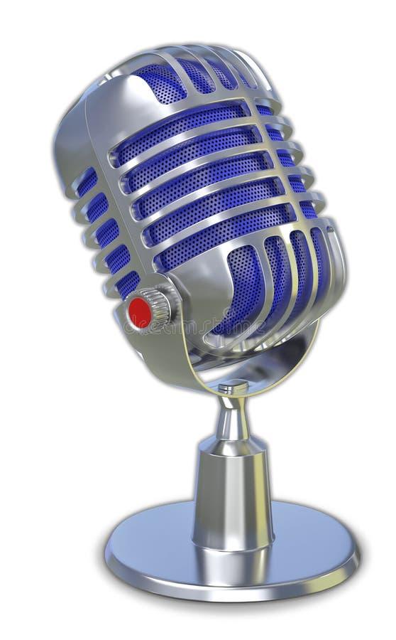 Microfone retro 3d ilustração stock