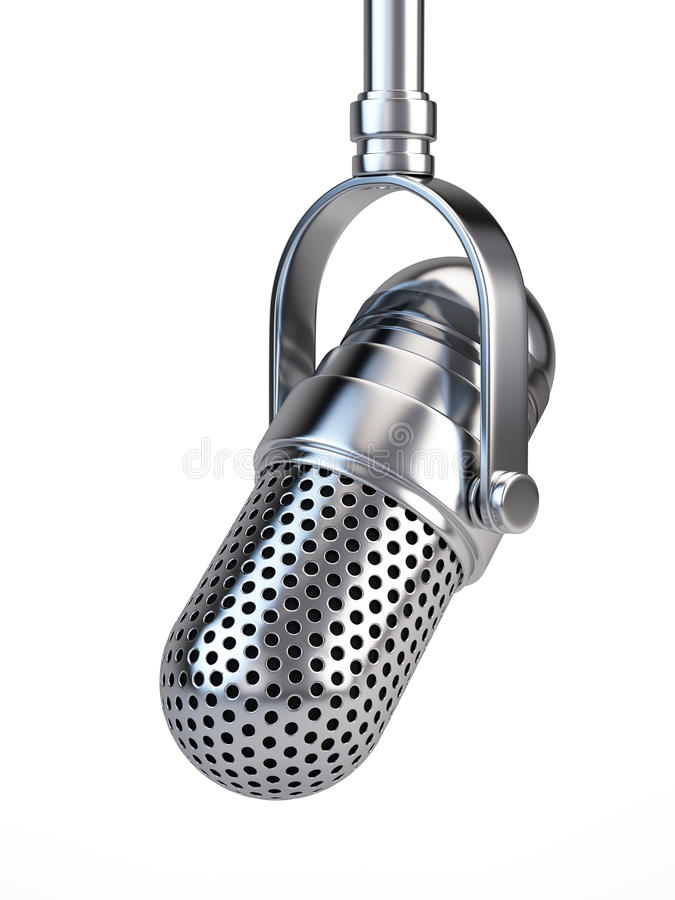Microfone retro ilustração royalty free