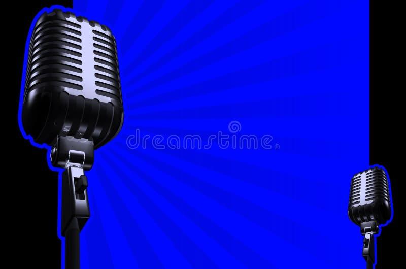 Microfone retro ilustração do vetor