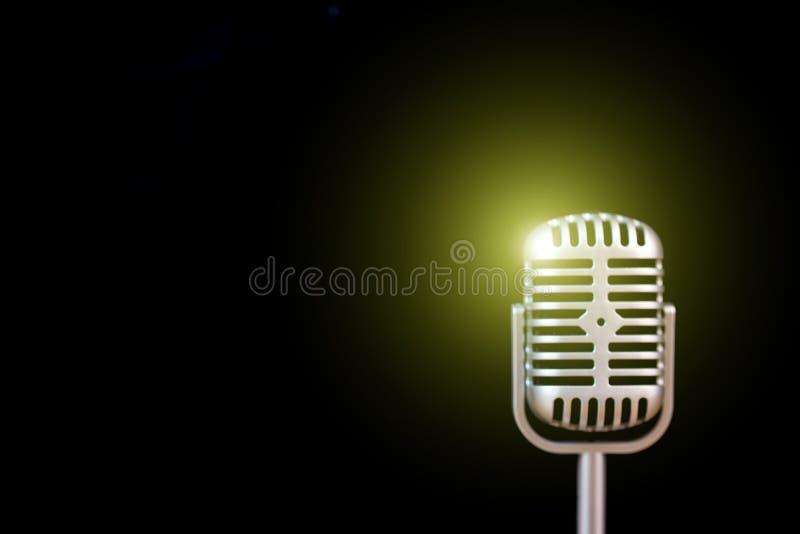 Microfone retro foto de stock
