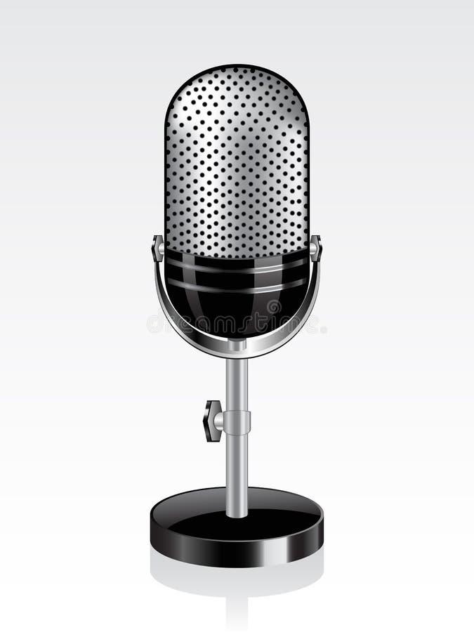 Microfone retro do vetor ilustração stock