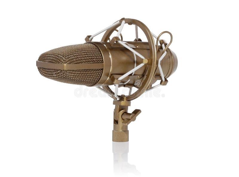 Microfone retro dourado fotos de stock
