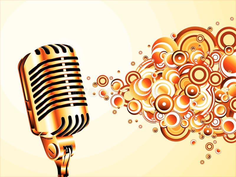 Microfone retro mágico ilustração royalty free