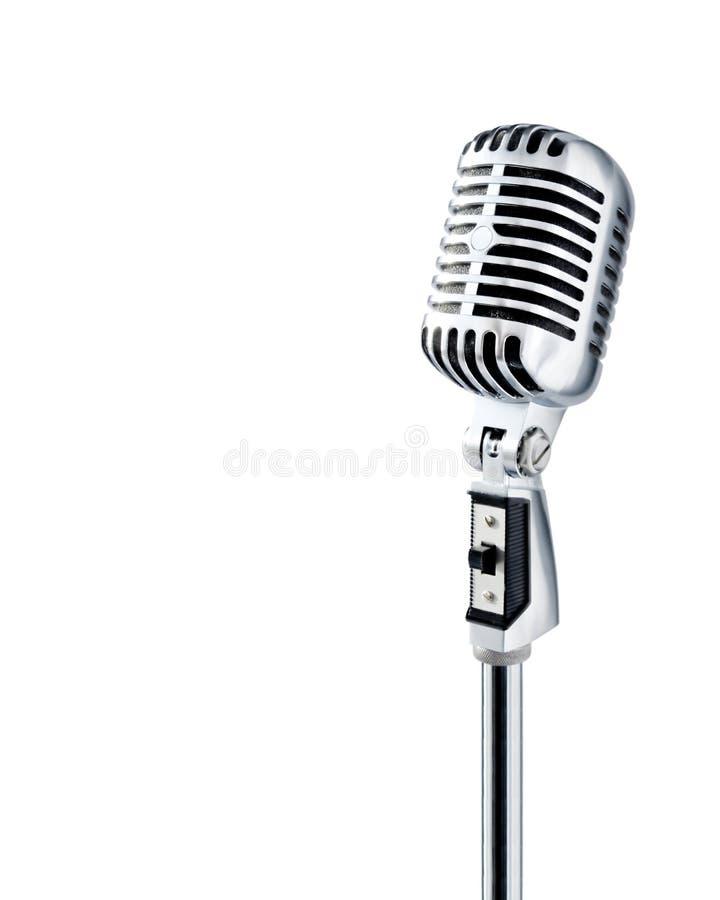 Microfone retro (trajeto de +clipping) imagens de stock