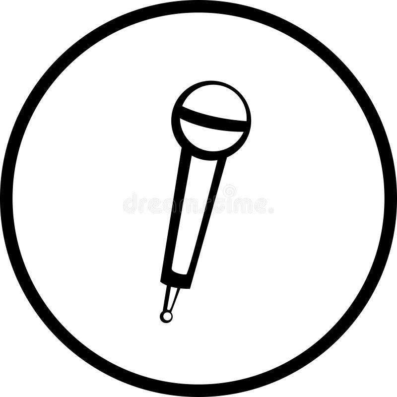 Microfone sem fio ilustração royalty free