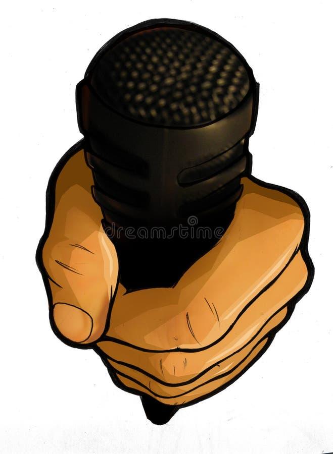 Microfone urbano do profissional de Hip Hop fotografia de stock