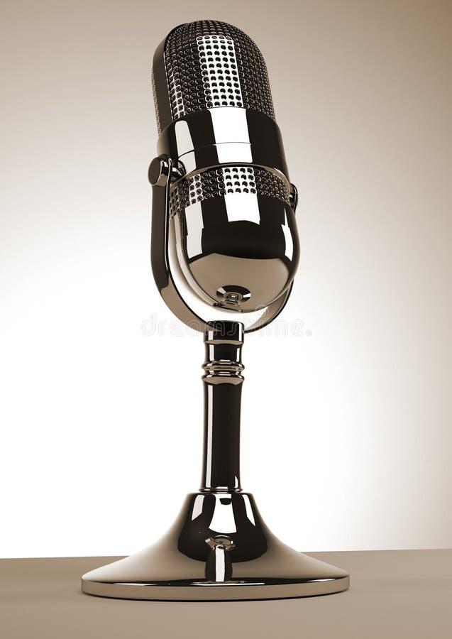 Microfone velho ilustração royalty free