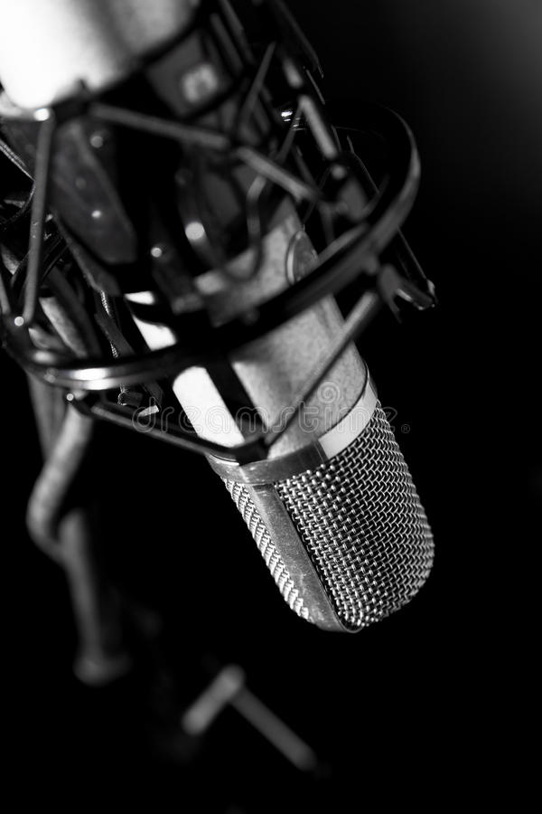Microfone velho imagens de stock