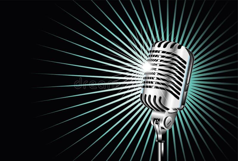 Microfone velho ilustração do vetor