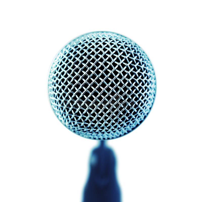 Microfone. Vista dianteira. fotos de stock royalty free