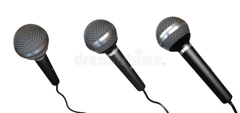 Microfones ilustração do vetor