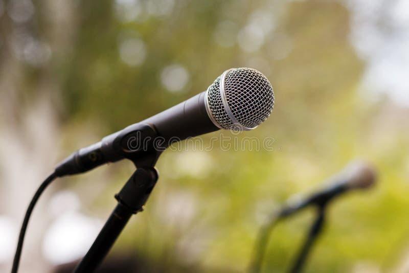 microfones imagens de stock