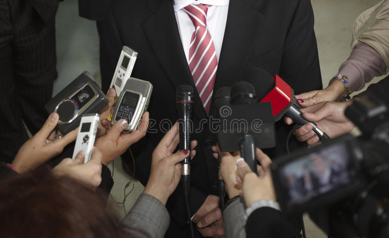Microfones da conferência imagens de stock royalty free