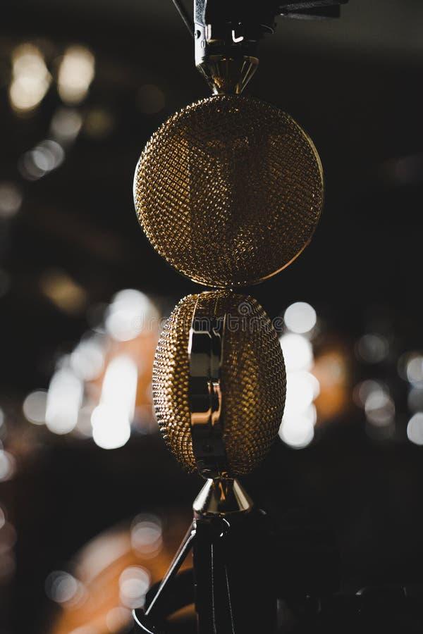Microfones de fita fotografia de stock