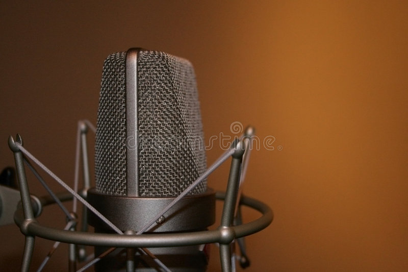 Microfono fotografia stock